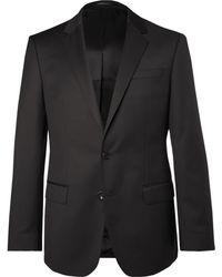 BOSS | Black Hayes Slim-fit Super 120s Virgin Wool Suit Jacket | Lyst