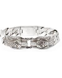 Gucci - Tiger Sterling Silver Bracelet - Lyst