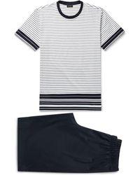 Hanro - Striped Mercerised Cotton-jersey Pyjama Set - Lyst