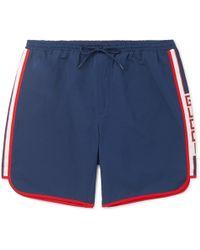 Gucci - Short-length Grosgrain-trimmed Swim Shorts - Lyst