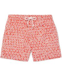 Hartford   Mid-length Printed Swim Shorts   Lyst