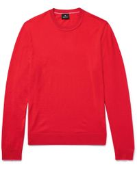 PS by Paul Smith - Contrast-tipped Merino Wool Jumper - Lyst