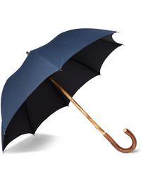 Francesco Maglia Lord Chestnut Wood-handle Umbrella - Blue