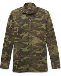 Tom Ford - Camouflage-print Poplin Shirt - Lyst