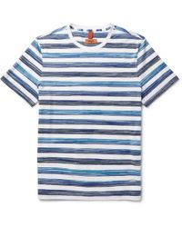 Missoni - Space-dyed Striped Cotton-jersey T-shirt - Lyst