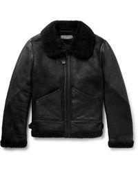 Ralph Lauren Purple Label - Shearling Jacket - Lyst