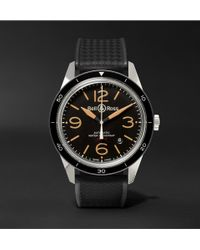 Bell & Ross - Br 123 Sport Heritage Automatic Steel And Rubber Watch - Lyst