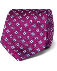 Turnbull & Asser - Neat Pine Squares Silk Classic Tie - Lyst