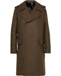 Berluti - Double-breasted Virgin Wool And Angora-blend Coat - Lyst