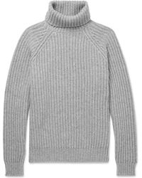 Brunello Cucinelli - Ribbed Cashmere Rollneck Jumper - Lyst