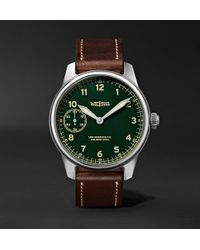 Weiss | American Issue 42mm Stainless Steel And Leather Field Watch | Lyst