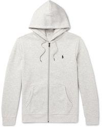9be1fe5a0 Polo Ralph Lauren Jersey Zip-up Hoodie in Black for Men - Lyst