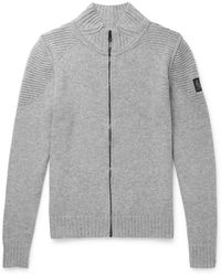 Belstaff - Renhold Slim-fit Wool And Cashmere-blend Zip-up Cardigan - Lyst