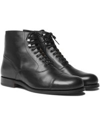 Grenson - Leander Cap-toe Leather Boots - Lyst