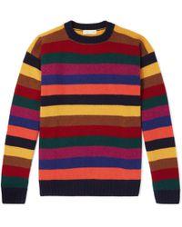 Etro - Striped Cashmere Jumper - Lyst