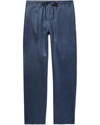 Zimmerli - Slub Linen And Cotton-blend Pyjama Pants - Lyst