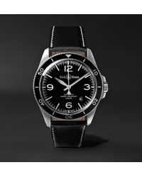 Bell & Ross - Br V2-92 Automatic 41mm Stainless Steel And Leather Watch - Lyst