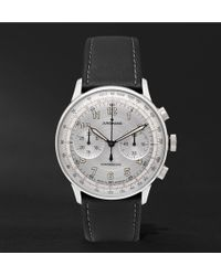 Junghans - Meister Telemeter Chronoscope 40mm Stainless Steel And Leather Watch - Lyst