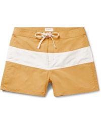Saturdays NYC - Grant Short-length Striped Swim Shorts - Lyst