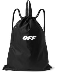 Off-White c/o Virgil Abloh - Logo-print Cotton-canvas Drawstring Backpack - Lyst
