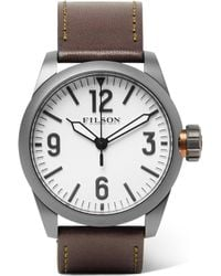 Filson - Field Stainless Steel And Leather Watch - Lyst