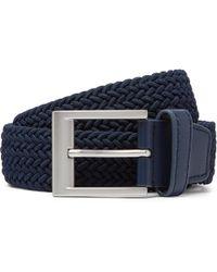 adidas Originals - 3.5cm Navy Rubber-trimmed Woven Belt - Lyst