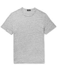 Theory - Essential Mélange Linen T-shirt - Lyst