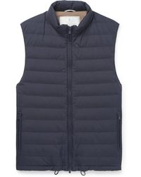 Brunello Cucinelli - Quilted Shell Down Gilet - Lyst