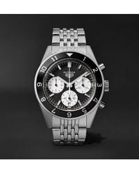 Tag Heuer | Autavia Automatic Chronograph 42mm Polished-steel Watch | Lyst