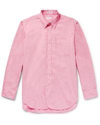 Engineered Garments - Button-down Collar Cotton-poplin Shirt - Lyst