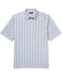 Theory - Striped Cotton-poplin Shirt - Lyst
