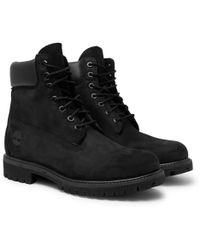 Timberland - Premium Waterproof Leather-trimmed Nubuck Boots - Lyst