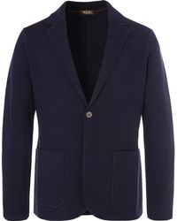 Loro Piana - Navy Slim-fit Unstructured Waffle-knit Virgin Wool Blazer - Lyst