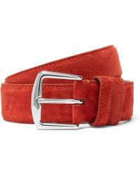 Loro Piana - 3.5cm Red Suede Belt - Lyst