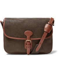 58db25f6ac4e Mulberry - Heritage Pebble-grain Leather Messenger Bag - Lyst