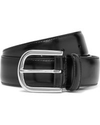 Andersons - 3cm Navy Burnished-leather Belt - Lyst