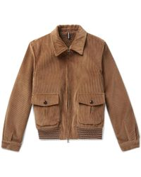 Lardini - Cotton-corduroy Bomber Jacket - Lyst