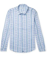 304dea4961 On sale Pink House Mustique - Printed Linen Shirt - Lyst