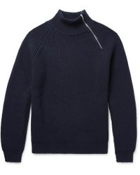 CONNOLLY - Ribbed Cashmere Half-zip Jumper - Lyst