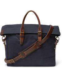 Bleu De Chauffe | Remix Leather-trimmed Canvas Briefcase | Lyst