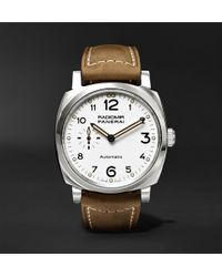 Officine Panerai | Radiomir 1940 3 Days Automatic Acciaio 42mm Stainless Steel And Leather Watch | Lyst