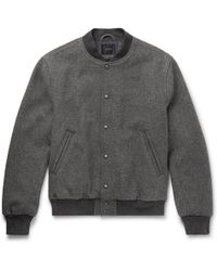 J.Crew | Stadium Wool-blend Bomber Jacket | Lyst