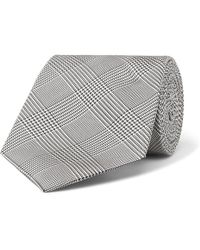 Kingsman - + Drake's 8cm Prince Of Wales Checked Silk Tie - Lyst