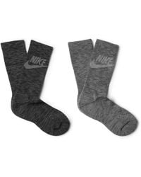 Nike - Advance Crew Two-pack Mélange Stretch-knit Socks - Lyst