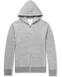 MR P. - Mélange Loopback Cotton-jersey Hoodie - Lyst