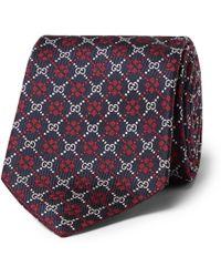 4f10551caf8 Lyst - Gucci 8cm Logo-jacquard Silk Tie in Blue for Men