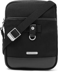 Saint Laurent - Rivington Race Leather-trimmed Canvas Messenger Bag - Lyst