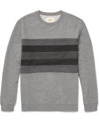 Folk - Striped Loopback Cotton-jersey Sweatshirt - Lyst