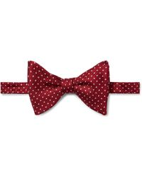 Turnbull & Asser - Pre-tied Pin-dot Silk-faille Bow Tie - Lyst