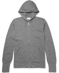 Officine Generale - Merino Wool Zip-up Hoodie - Lyst